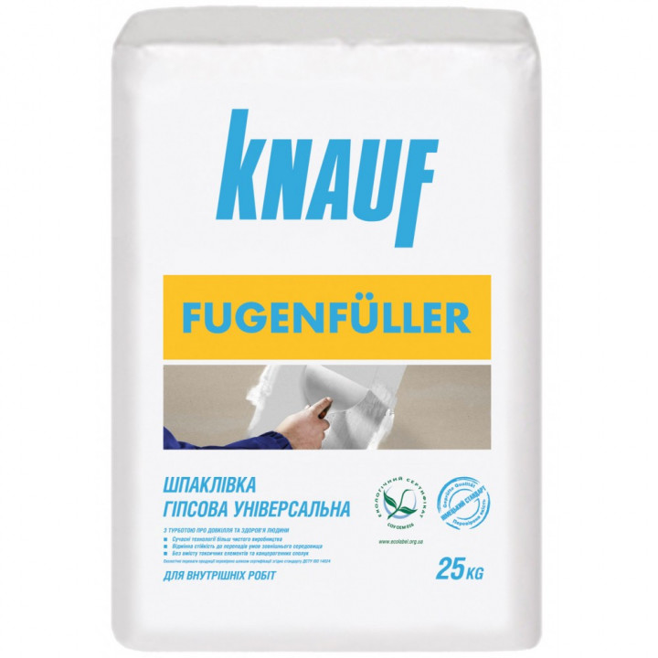 Шпаклівка для швів Кнауф Фугенфюллер (Knauf Fugenfuller) (25 кг.)
