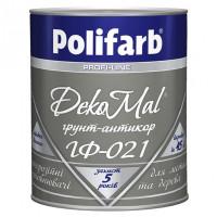 Грунт-емаль алкідна Polifarb DekoMal ГФ-021 ГОСТ (Поліфарб)  (2,7 кг/сіра)