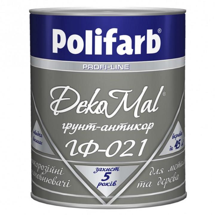 Грунт-емаль алкідна Polifarb DekoMal ГФ-021 ГОСТ (Поліфарб)  (0,9 кг/сіра)