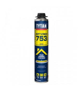 Піна-клей проф. Tytan О2 STYRO 753 GUN B3 (750мл)