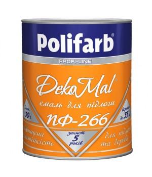 Емаль алкідна Polifarb DekoMal ПФ-266 ГОСТ (Поліфарб)  (2,7 кг/червоно-коричнева)