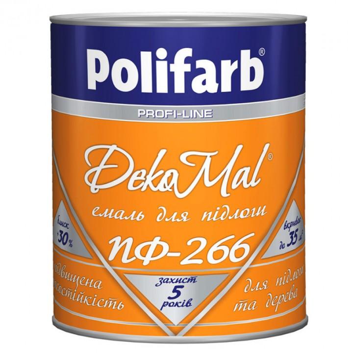Емаль алкідна Polifarb DekoMal ПФ-266 ГОСТ (Поліфарб)  (2,7 кг/жовто-коричнева)