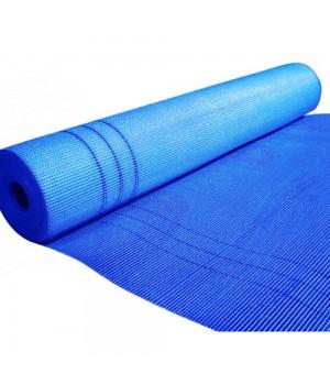 Сітка штукатурна лугостійка Fiberglass 6*5мм (50м.кв 145гр/м2) синя