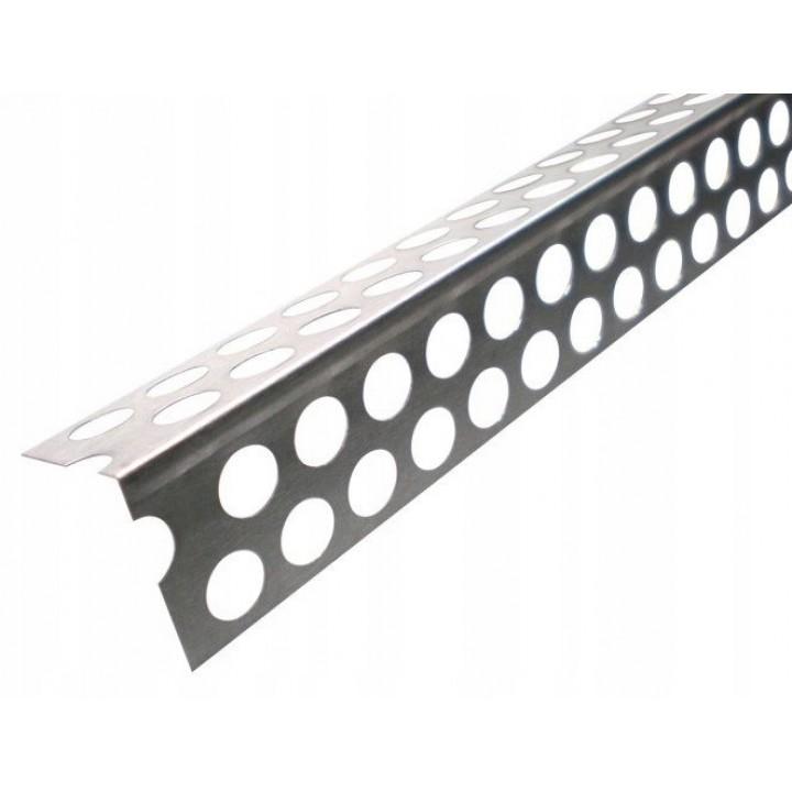 Кут перфорований алюмінієвий DELUX (3м)