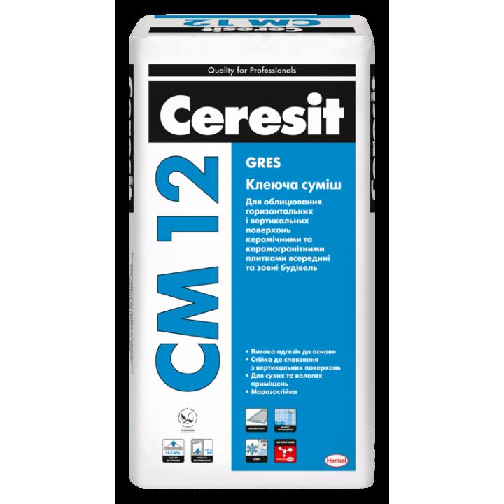 Клей для плитки Ceresit СМ-12 (25 кг.)