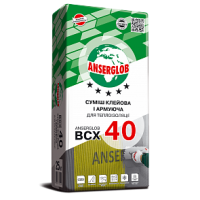 Клей для теплоізоляції Ансерглоб ВСХ-40 (приклеювання та армування/25кг.)
