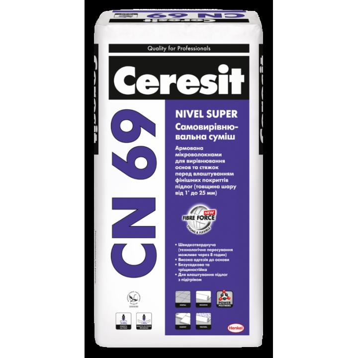 Самовирівнююча суміш Ceresit CN-69 (25 кг.)