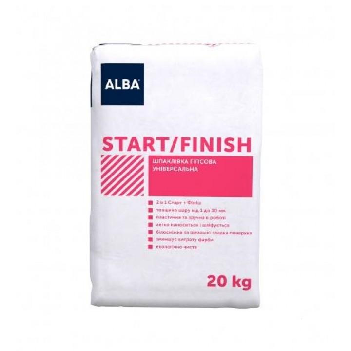 "Шпаклівка Альба 2 в 1 ""START-FINISH"" (20 кг.)"